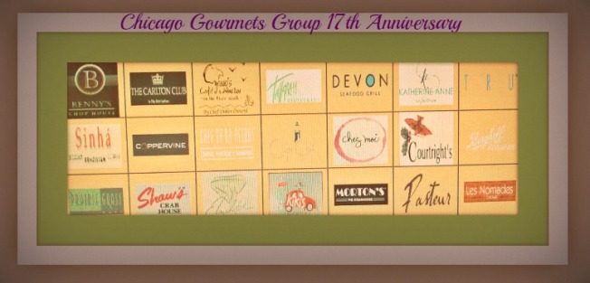 Happy 17th Anniversary Chicago Gourmets !!!